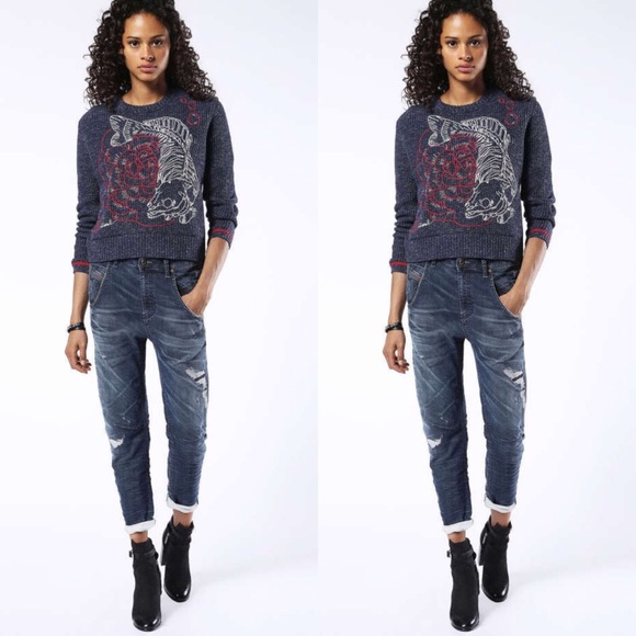 5f8a3c44434 ... Jeans Destroyed Boyfriend Jeans. NWT. Diesel.  M_5ce88b5029f030f4d9f14147. M_5ce88b528d653d185f799c52.  M_5ce88b549d3b7861299811c9